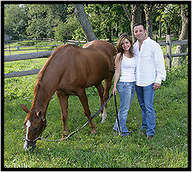 Couple Posing with Horse
